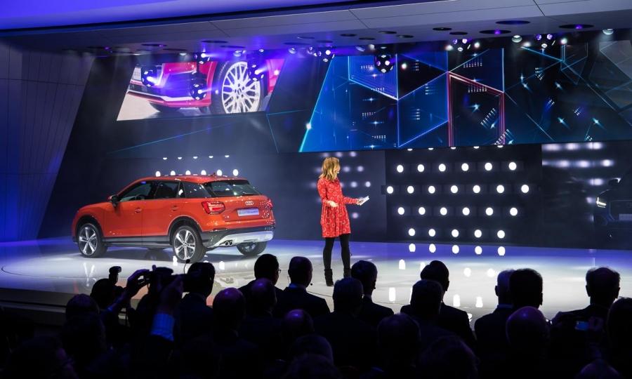 Audi Q2 auf dem Genfer Autosalon 2016