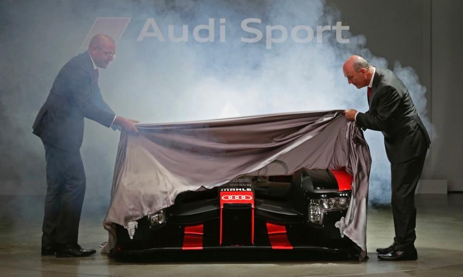 Die Premiere des Audi R18 in München