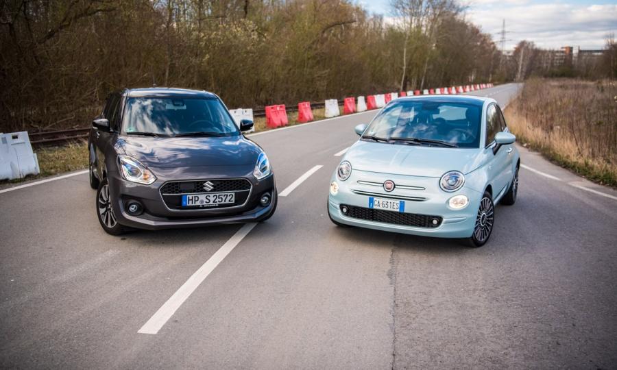 Fiat 500 Hybrid vs. Suzuki Swift Hybrid