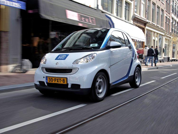 Car2Go Smart Elektroautos in Amsterdam