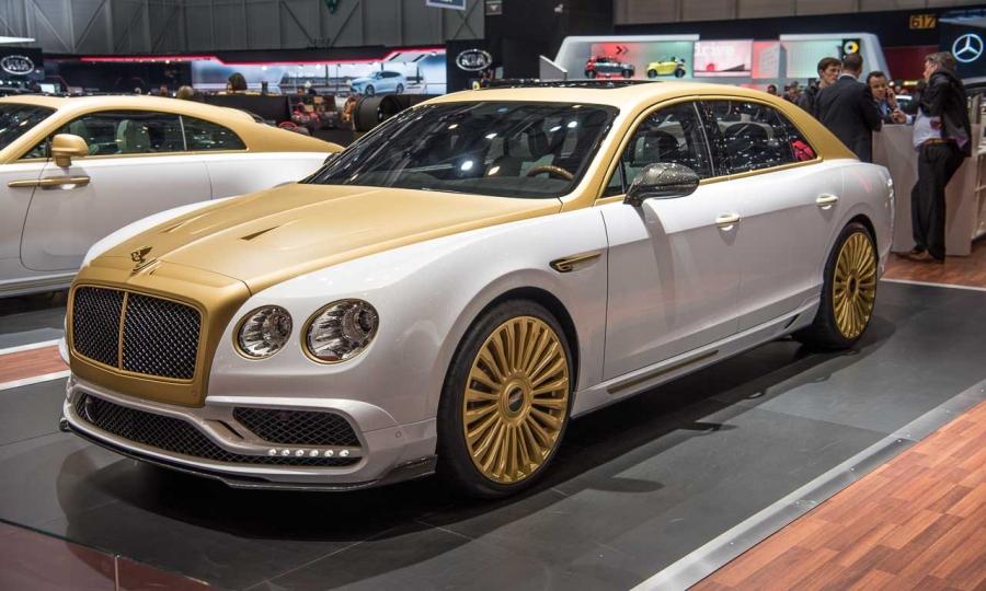 Rolls-Royce und Bentley in Gold-Weiss