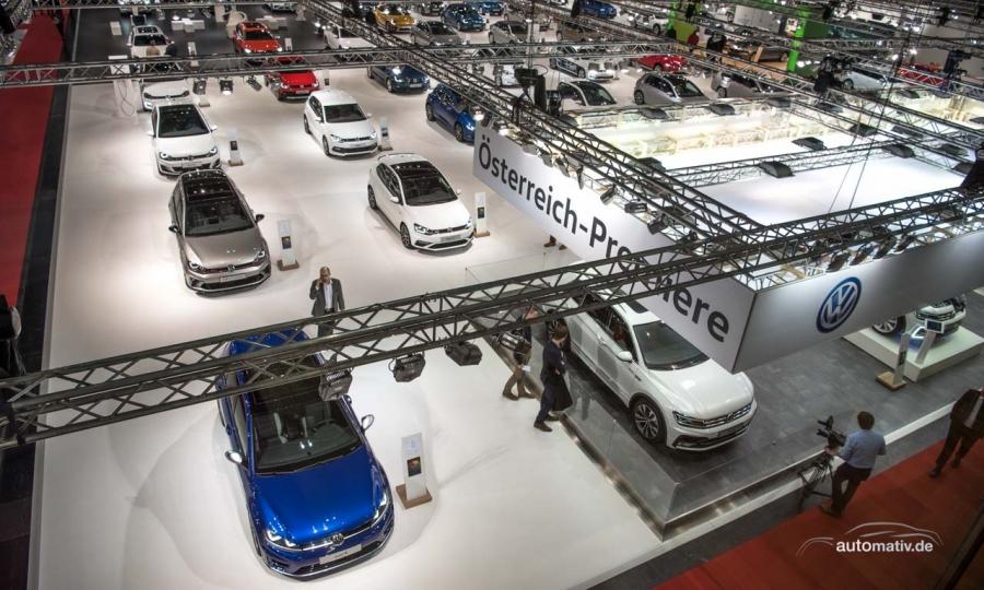 Den größten Stand der Messe hat Volkswagen.