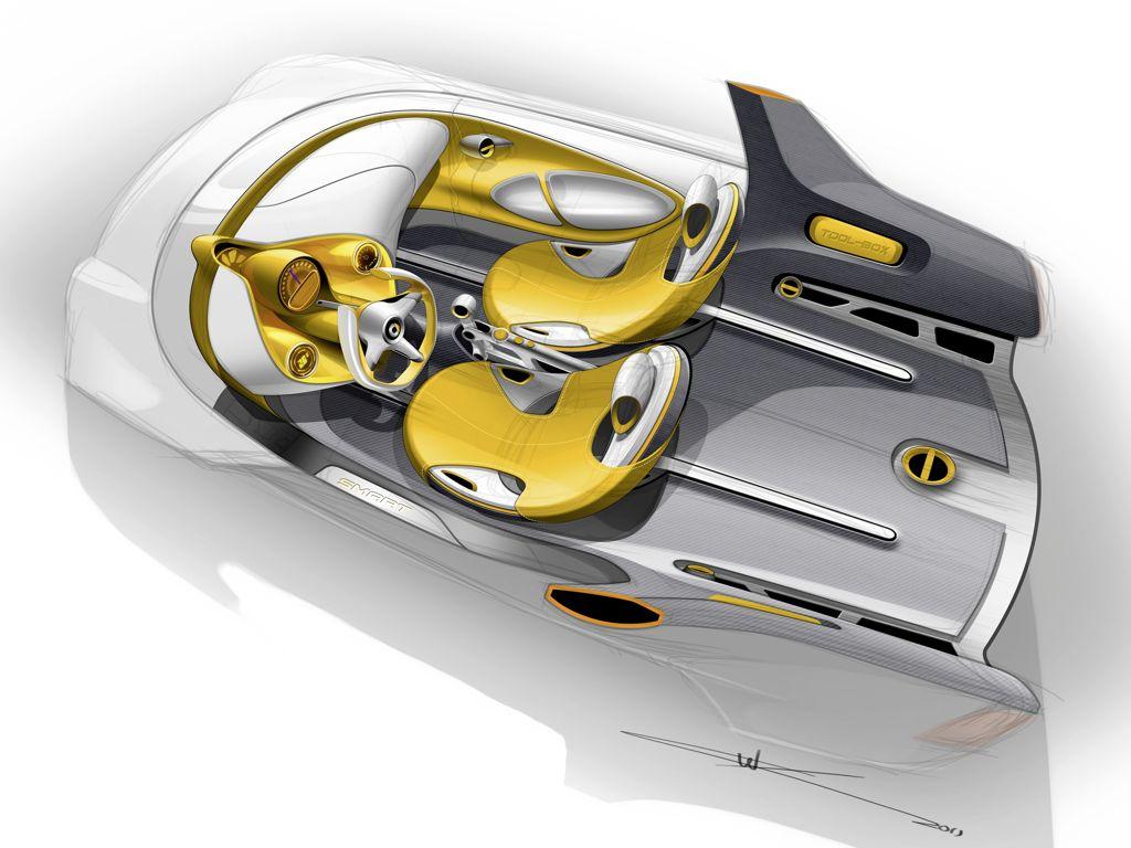 Elektroauto: Smart Studie samt E-Bike in Detroit 2012