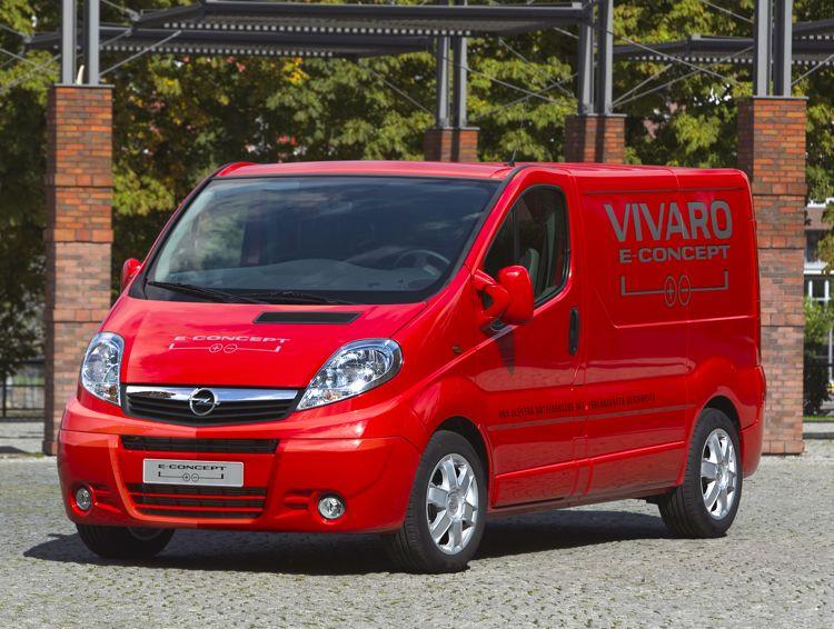 Transporter Mit Elektroantrieb Opel Stellt Den Vivaro Econcept In Hannover Vor