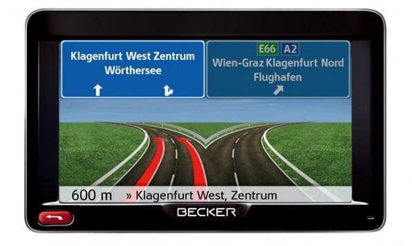 Becker Active 50 - Hochwertiges Navi mit Sprachsteuerung