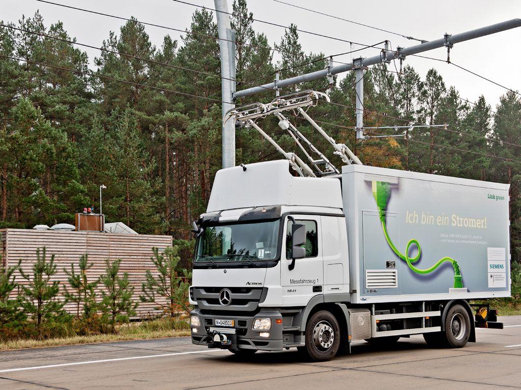 Siemens Hybrid LKW und eHighway Konzept