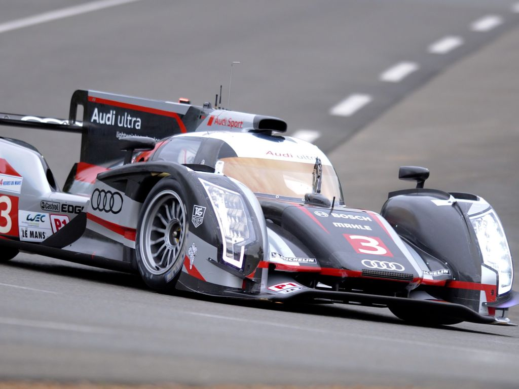 pin audi r18 e tron race wallpaper in 1366x768 resolution on pinterest. Black Bedroom Furniture Sets. Home Design Ideas