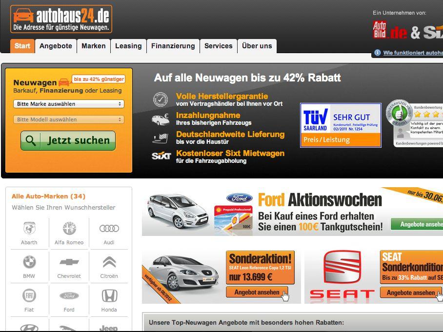 Autohaus24 bietet großen Preisvorteil beim Autokauf
