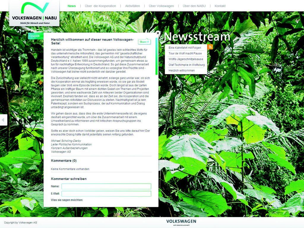 Naturschutzbund und VW kooperieren