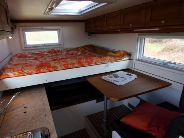 Doppelbett im Heck des Dakar 650