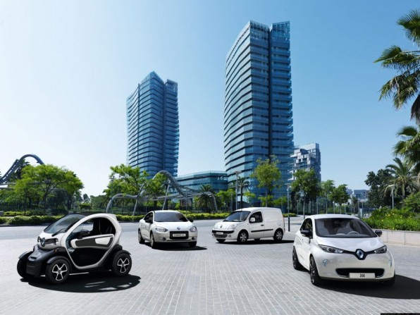 renault elektroautos1 596x447 - Renault Elektrofahrzeuge auf dem Vormarsch