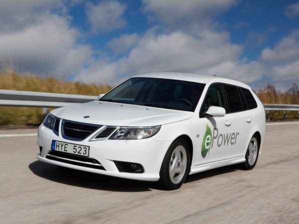 Saab Elektroauto 9-3 mit National Electric Vehicle Sweden