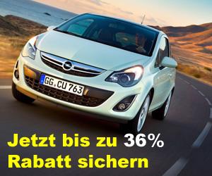 Jetzt Rabatt beim Kauf eines Opel Corsa sichern
