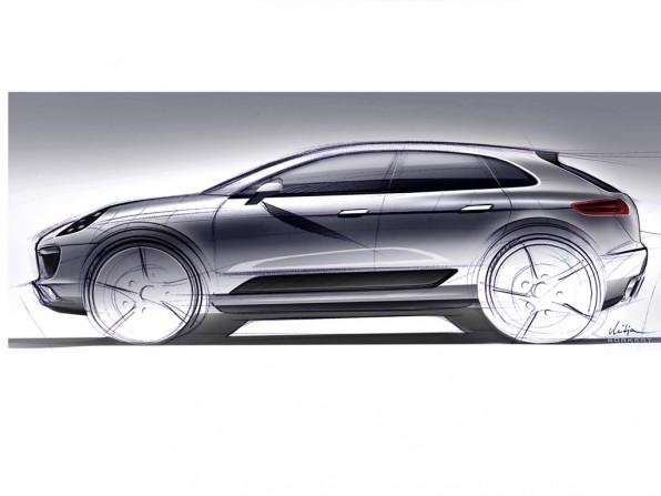 porsche macan skizze 596x447 - Porsche Macan: Porsche investierte 500 Millionen Euro in Leipzig