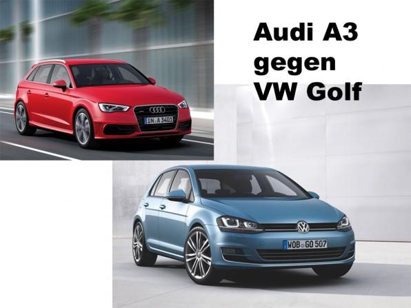 Audi a3 vw.golf  596x447 - Preisvergleich: Audi A3 gegen VW Golf 7