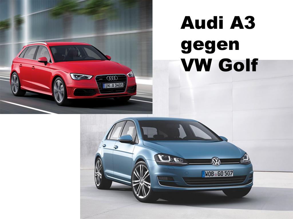 Preisvergleich - Audi A3 gegen VW Golf 7