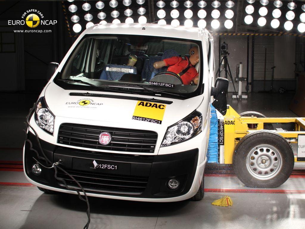 Fiat Scudo beim EUro NCAP Crashtest