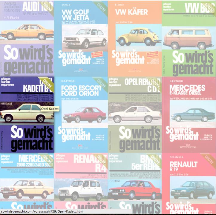 """Werkstatthandbücher Online: """"So wird es gemacht"""" Bücher frei zugänglich"""