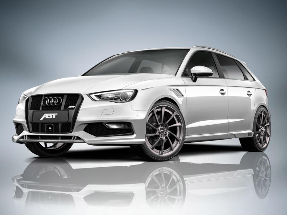 audi abt a3 sportback 2013 img 1 960x720 - Audi A3 Sportback Tuning: Leistungssteigerung, Bodykit und Fahrwerk von ABT