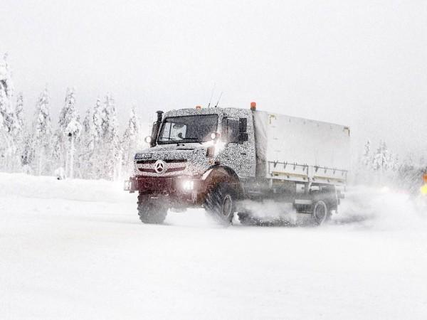 unimog test finnland 2013 2 600x450 - Neuer Unimog Motor: Härtetest für Euro-6 Motoren in Finnland