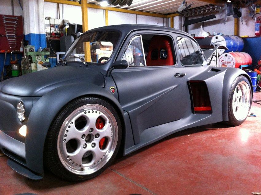 fiat 500 oemmedi meccanica - Aufgemotzter Fiat 500 bringt 580 PS dank Lamborghini Motor auf die Straße