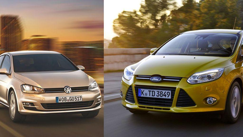 Preisvergleich VW Golf 7 gegen Ford Focus