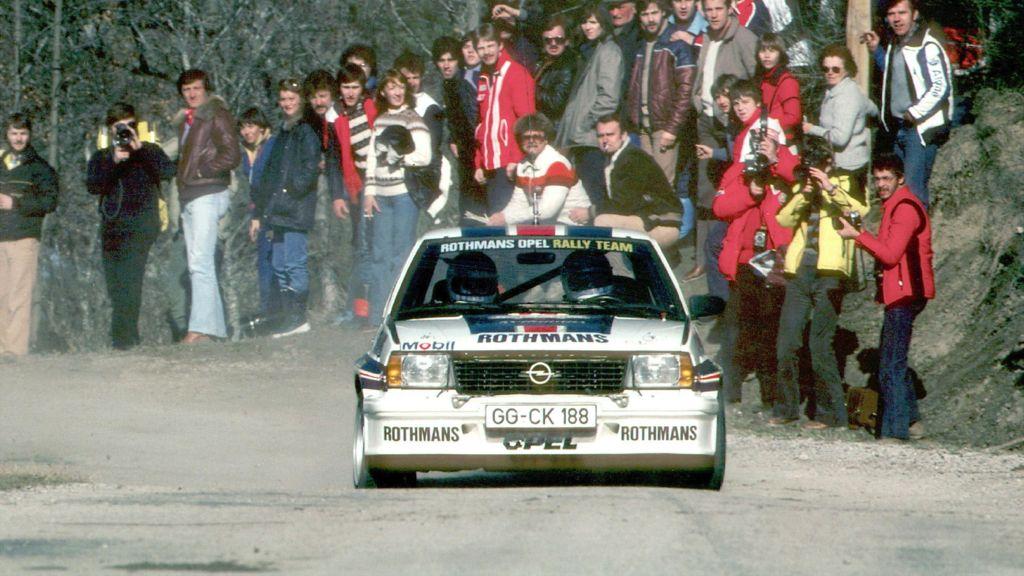 ADAC Eifel Rallye Festival : Walter Röhrl im Opel Ascona 400 unterwegs