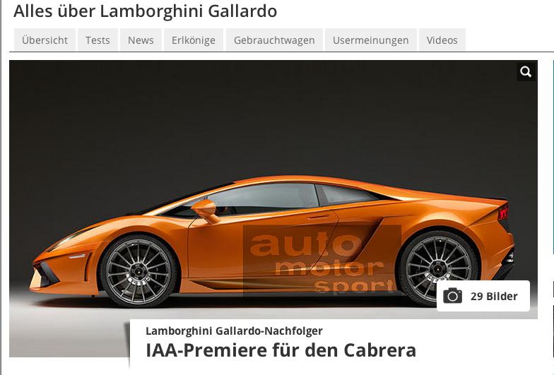 Bildschirmfoto 2013 08 28 um 10.16.16 - IAA 2013: Lamborghini Cabrera feiert Premiere