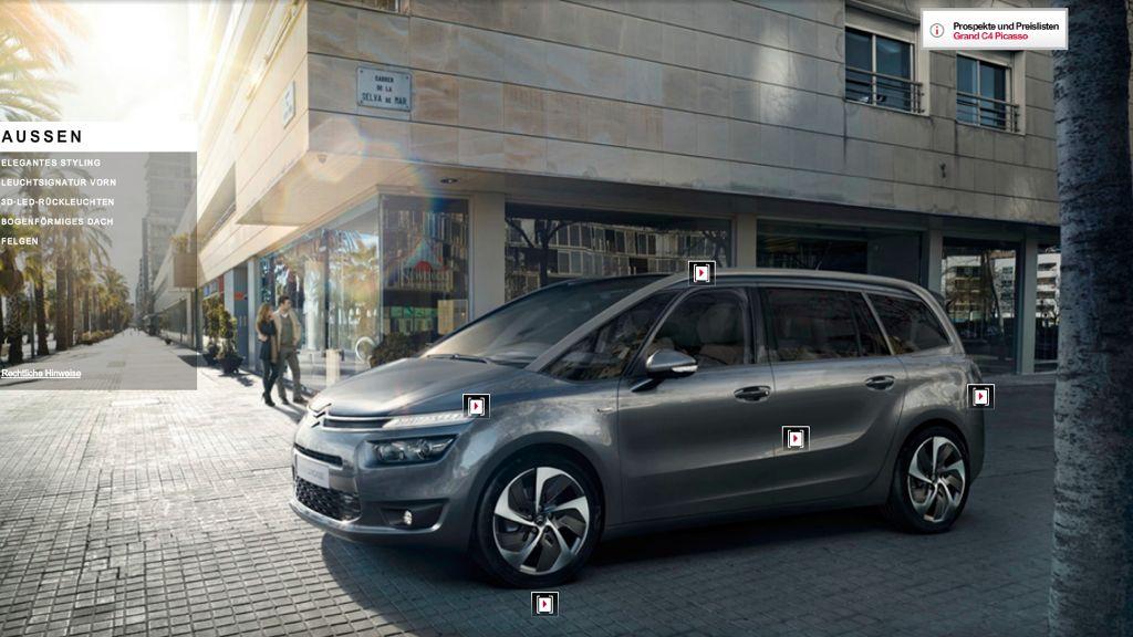 IAA 2013: Citroen präsentiert neuen Grand C4 Picasso auf Automobilausstellung