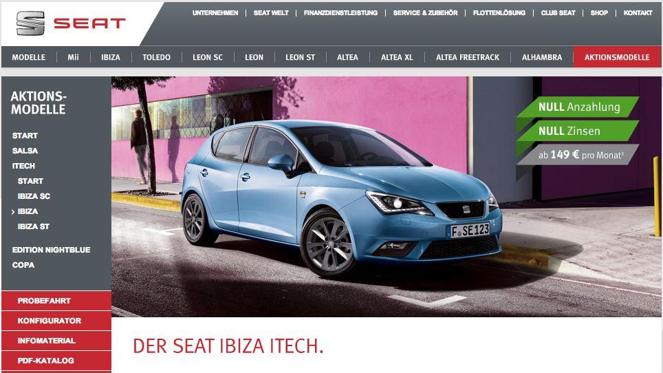 Sonderedition: Seat Ibiza ITECH mit vielen Extras