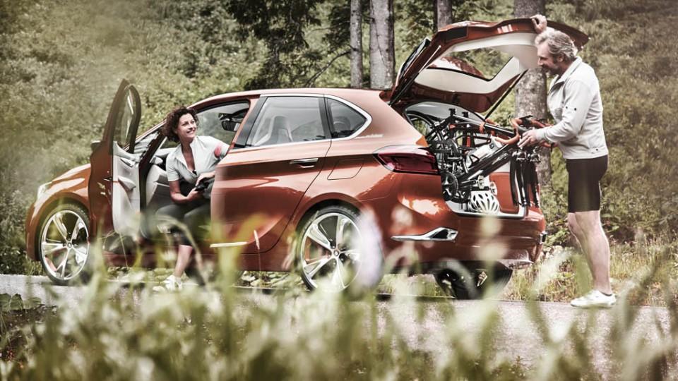 BMW Active Tourer Konzeptstudie (2013) - Endlich baut BMW auch ein Auto für Radsportbegeisterte