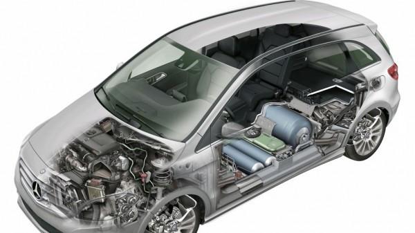 Mercedes-Benz B 200 Natural Gas Drive mit Umbauten zum Erdgasfahrzeug