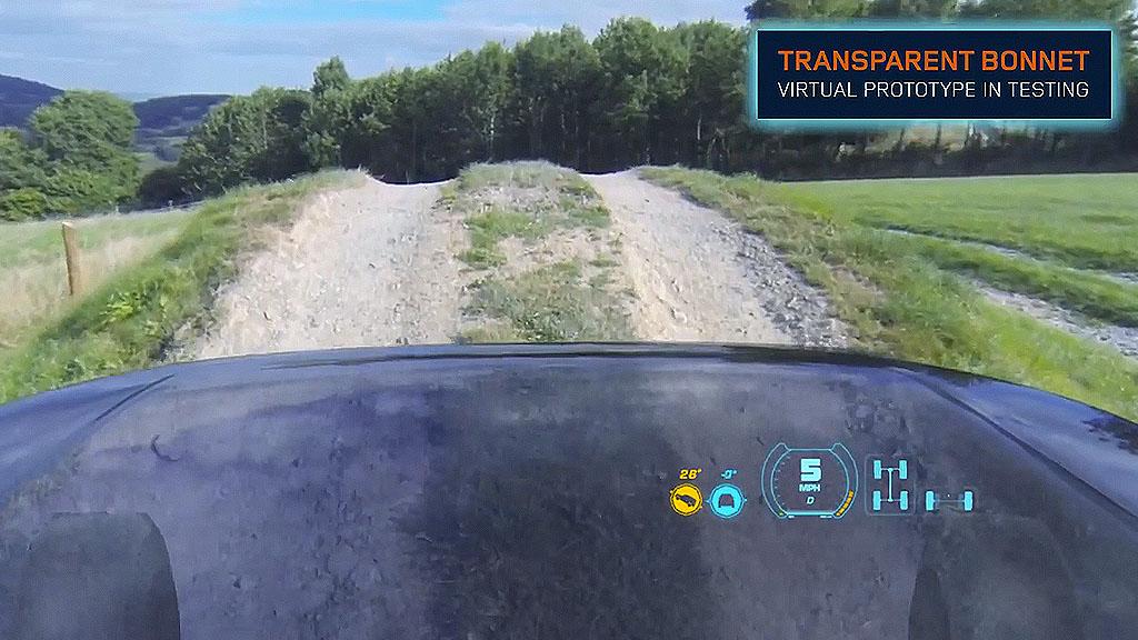 Land Rover unsichtbare Motorhaube - Land Rover: Der Vorderwagen wird auf einmal durchsichtig! (Video)