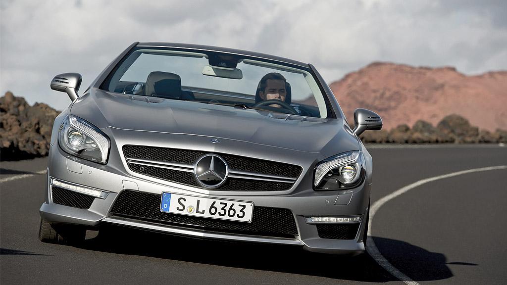 Mercedes SL63 AMG - Mercedes gibt dem SL63 AMG mehr Leistung zum erfolgreicheren Reifen-Schreddern