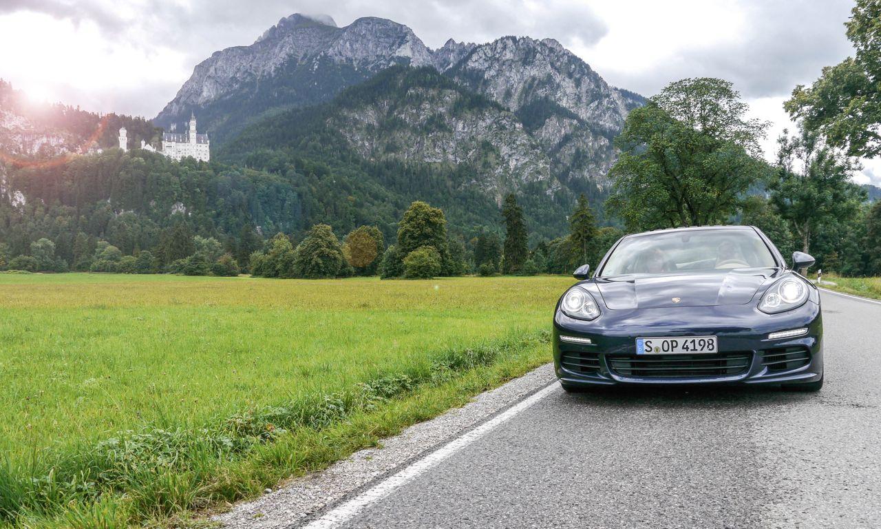 1Porsche Panamera Diesel 2014 04 - Porsche Panamera Diesel: Zu viert ab durch die Kurve!