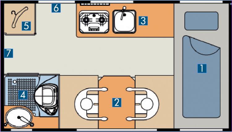Bimobil EX 366 Grundriss Kabine