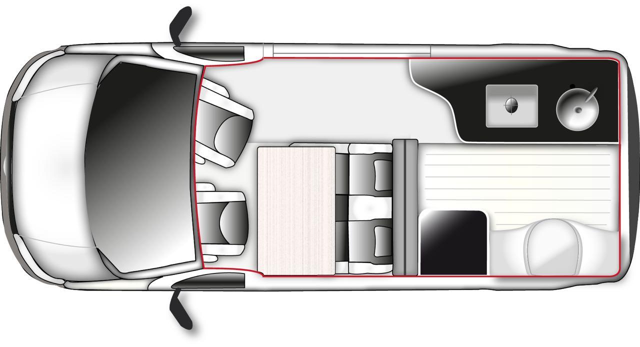 westfalia club joker van conversion auf basis vw t5 bus. Black Bedroom Furniture Sets. Home Design Ideas