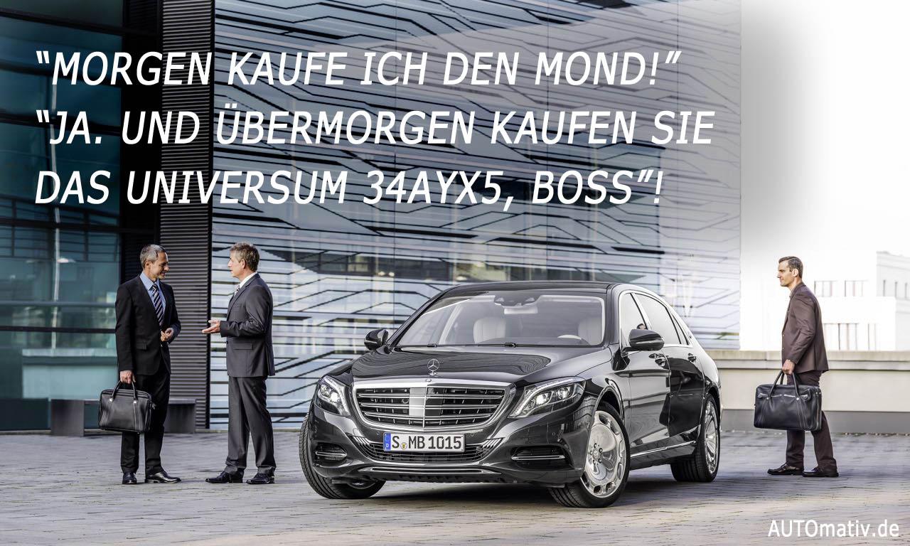 Mercedes-Maybach S-Klasse: Phantom-Gegner für rund 200.000 Euro.