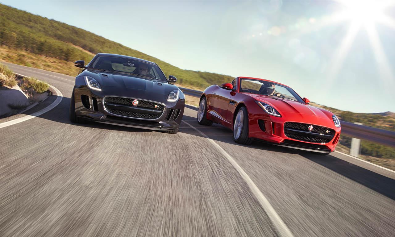 Die neuen F-Type Modelle mit Allradantrieb, als Cabriolet und mit Schaltgetriebe