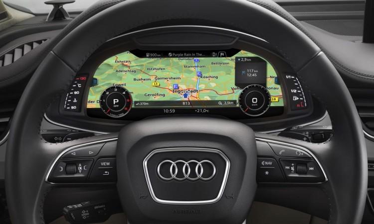 Das neue Virtual Cockpit im Audi Q7
