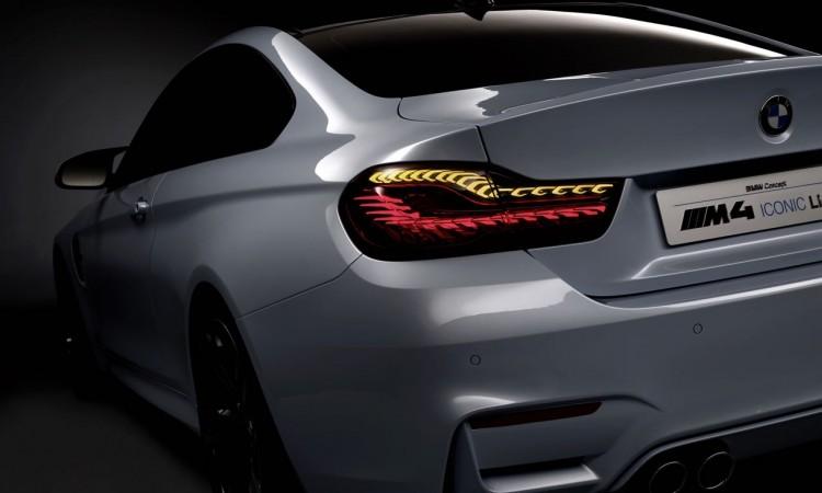 BMW M4 mit organischen Heckleuchten, die bald in Serie gehen.