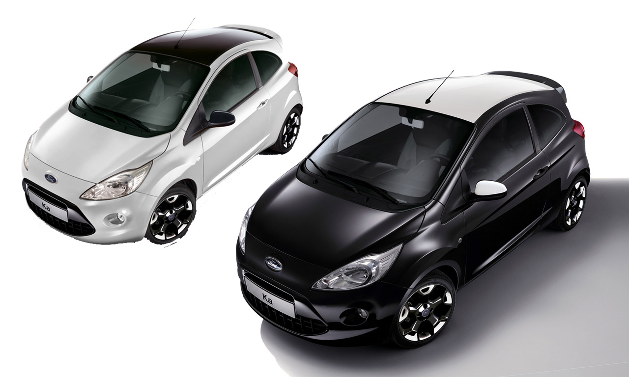 ford ka black white edition jetzt f r euro das auto magazin. Black Bedroom Furniture Sets. Home Design Ideas