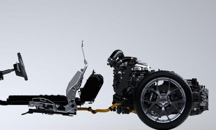 Der perfekte Mittelmotorsportwagen: der Motor des Honda NSX sitzt vor der Hinterachse