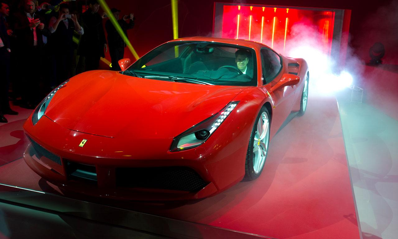 Ferrari 488 GTB Premiere mit Sebastian Vettel