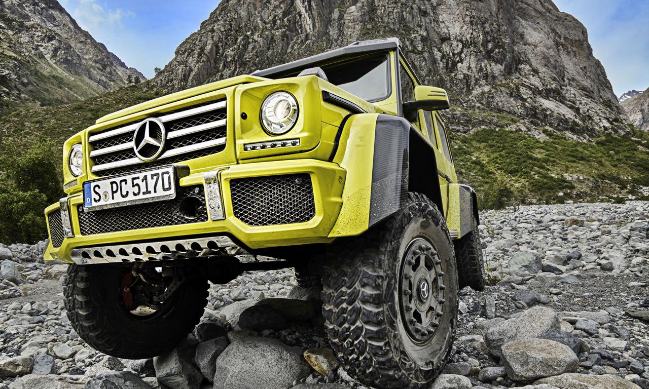 Mercedes G500 4×4²: Wenn sechs Räder zu viele Räder sind.