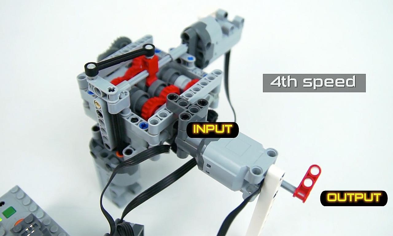 Manuelles Handschaltgetriebe von LEGO