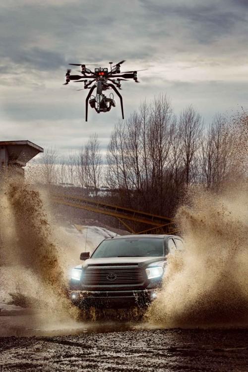 Flex4K Phantom Drohne bei der Arbeit