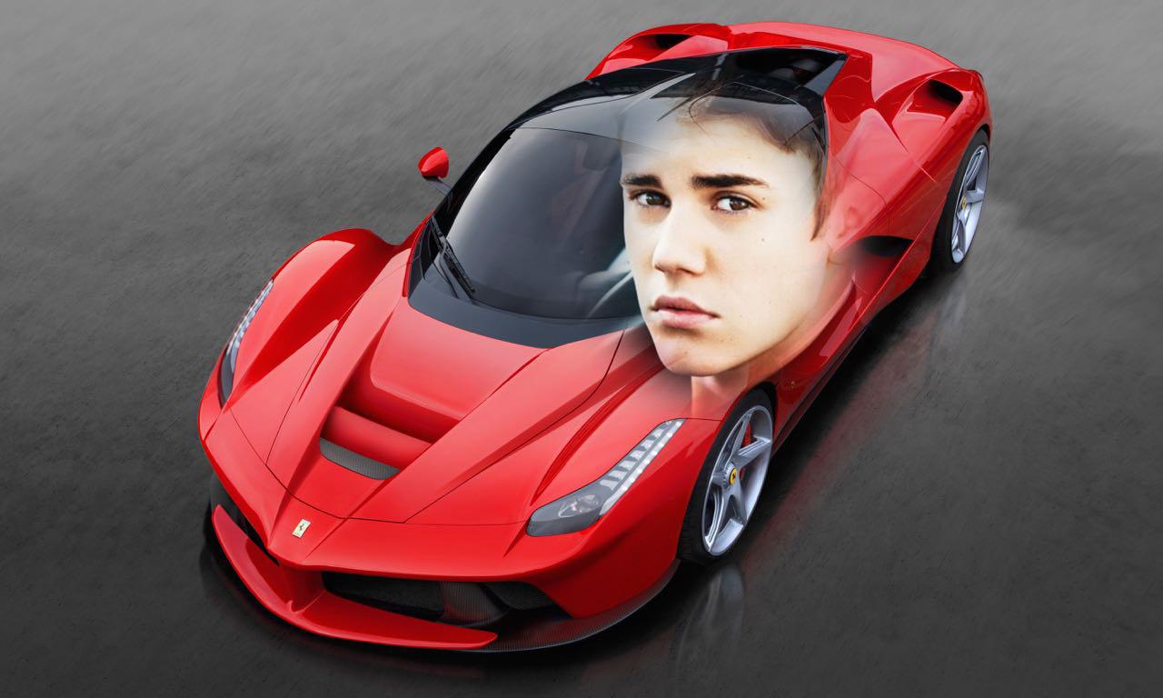 Justin Bieber mit seinem neuen La Ferrari