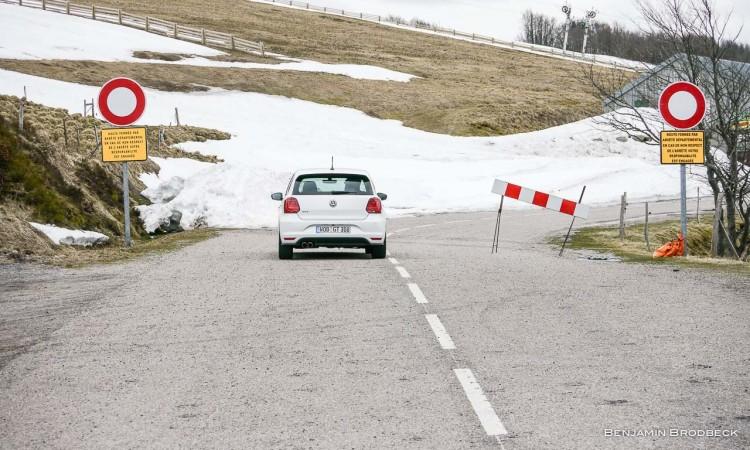 Der VW Polo GTI auf der Route des Crêtes (Vogesenhochstraße) - leider war sie teilweise noch gesperrt.