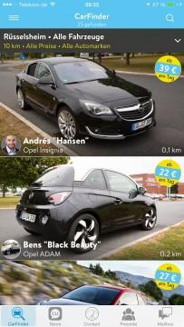 Opel CarUnity iPhone Smartphone CarSharing 3 203x360 - Opel CarUnity: Wie man mit seinem Auto Geld verdienen kann.